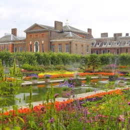 The sunken gardens at Kensington Palace, London